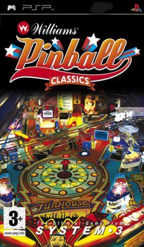 Immagine della copertina del gioco Williams Pinball Classics per PlayStation PSP