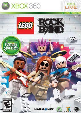 Copertina del gioco Lego Rock Band per Xbox 360