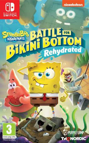 Copertina del gioco Spongebob SquarePants: Battle for Bikini Bottom - Rehydrated per Nintendo Switch