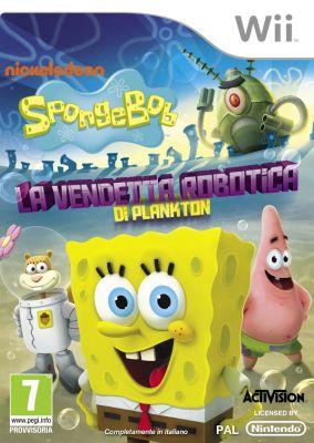 Copertina del gioco SpongeBob SquarePants: La Vendetta Robotica di Plankton per Nintendo Wii