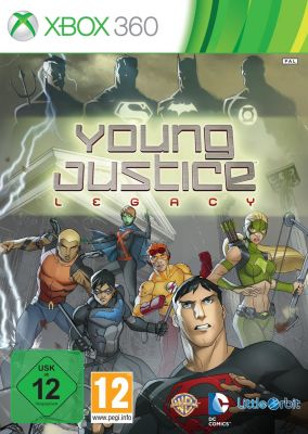 Copertina del gioco Young Justice: Legacy per Xbox 360