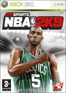 Immagine della copertina del gioco NBA 2K9 per Xbox 360
