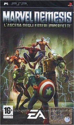 Immagine della copertina del gioco Marvel Nemesis: L'Ascesa degli Esseri Imperfetti per PlayStation PSP