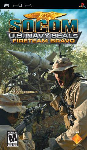 Immagine della copertina del gioco SOCOM U.S. Navy SEALs Fireteam Bravo per PlayStation PSP