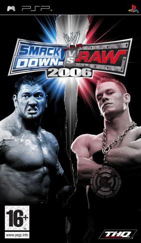 Immagine della copertina del gioco WWE Smackdown vs. RAW 2006 per PlayStation PSP