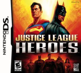 Immagine della copertina del gioco Justice League Heroes per Nintendo DS