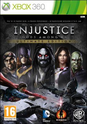 Copertina del gioco Injustice: Gods Among Us Ultimate Edition per Xbox 360