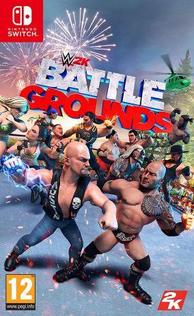 Immagine della copertina del gioco WWE 2K Battlegrounds per Nintendo Switch