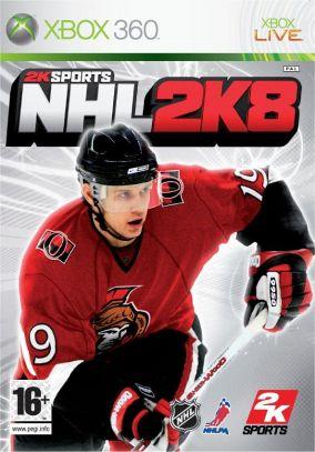 Copertina del gioco NHL 2K8 per Xbox 360