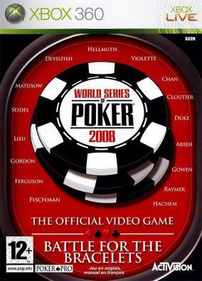 Copertina del gioco World Series of Poker 2008: Battle For The Bracelets per Xbox 360