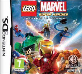 Immagine della copertina del gioco LEGO Marvel Super Heroes: L'Universo in Pericolo per Nintendo DS