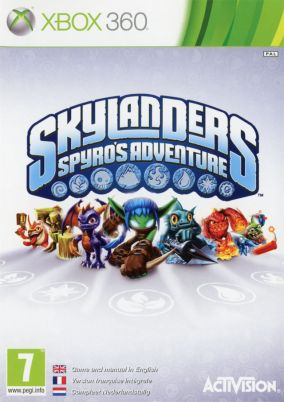 Copertina del gioco Skylanders Spyros Adventure per Xbox 360