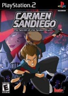 Immagine della copertina del gioco Carmen Sandiego: The Secret of the Stolen Drums per PlayStation 2