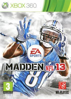 Copertina del gioco Madden NFL 13 per Xbox 360