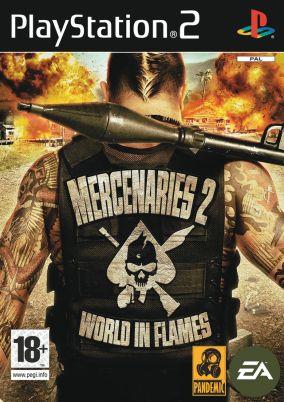 Copertina del gioco Mercenaries 2 Inferno Di Fuoco per PlayStation 2
