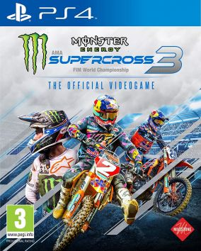 Immagine della copertina del gioco Monster Energy Supercross - The Official Videogame 3 per PlayStation 4