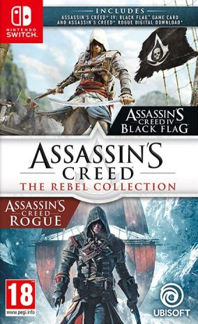 Copertina del gioco Assassin's Creed: The Rebel Collection per Nintendo Switch