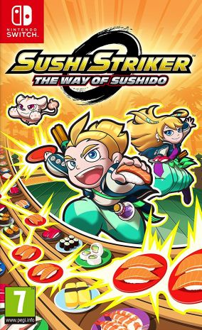 Copertina del gioco Sushi Striker: The Way of Sushido per Nintendo Switch