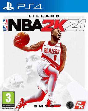 Immagine della copertina del gioco NBA 2K21 per PlayStation 4