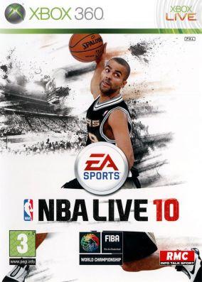 Immagine della copertina del gioco NBA Live 10 per Xbox 360