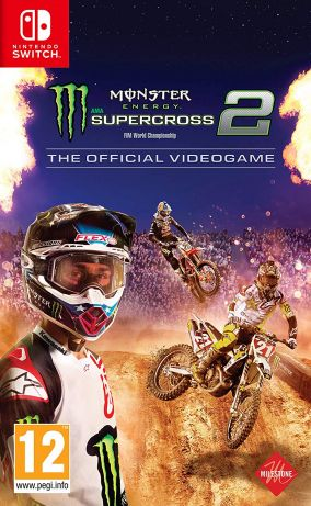 Copertina del gioco Monster Energy Supercross - The Official Videogame 2 per Nintendo Switch