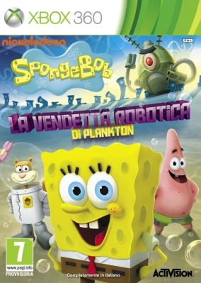Immagine della copertina del gioco SpongeBob SquarePants: La Vendetta Robotica di Plankton per Xbox 360