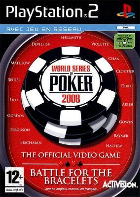 Copertina del gioco World Series of Poker 2008: Battle For The Bracelets per PlayStation 2
