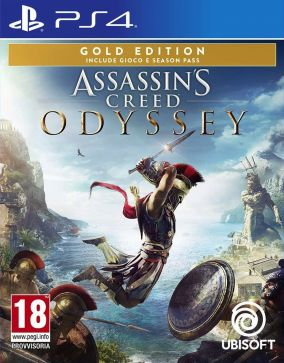 Copertina del gioco Assassin's Creed Odyssey per PlayStation 4