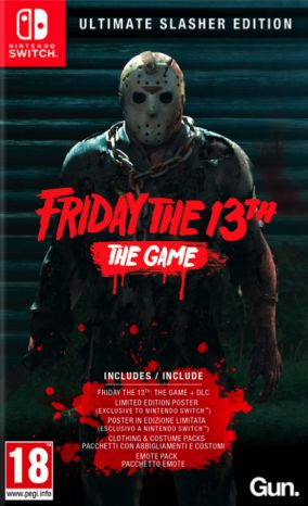 Immagine della copertina del gioco Friday the 13th : The Video Game per Nintendo Switch