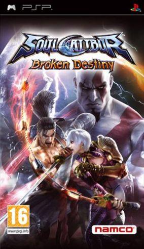 Immagine della copertina del gioco Soul Calibur: Broken Destiny per PlayStation PSP