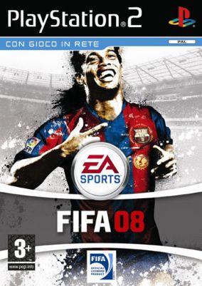Immagine della copertina del gioco FIFA 08 per PlayStation 2