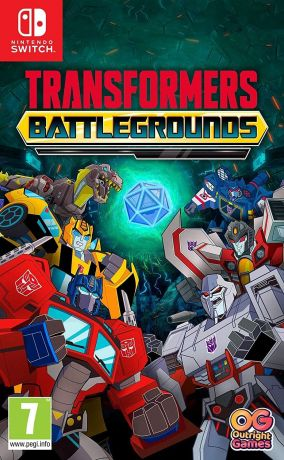 Copertina del gioco Transformers: Battlegrounds per Nintendo Switch