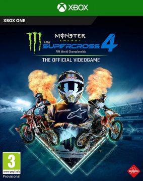 Immagine della copertina del gioco Monster Energy Supercross - The Official Videogame 4 per Xbox One
