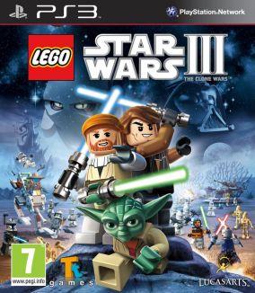 Immagine della copertina del gioco LEGO Star Wars III: The Clone Wars per PlayStation 3