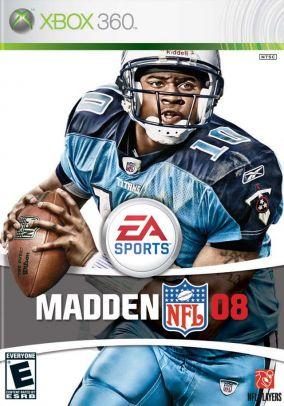 Immagine della copertina del gioco Madden NFL 08 per Xbox 360