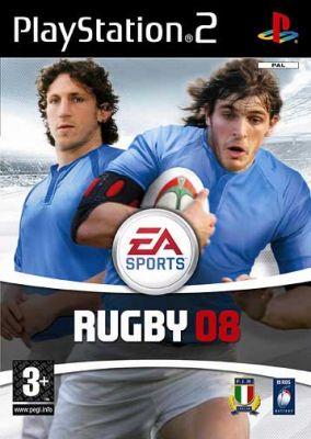 Immagine della copertina del gioco Rugby 08 per PlayStation 2
