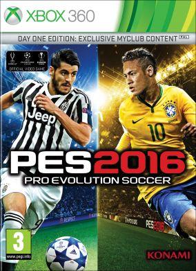 Immagine della copertina del gioco Pro Evolution Soccer 2016 per Xbox 360