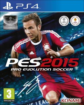 Immagine della copertina del gioco Pro Evolution Soccer 2015 per PlayStation 4