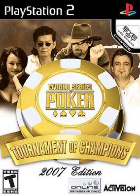 Copertina del gioco World Series of Poker Tournament of Champions 2007 Edition per PlayStation 2