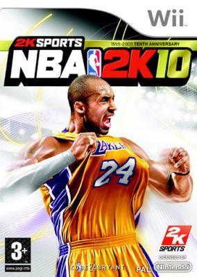 Immagine della copertina del gioco NBA 2K10 per Nintendo Wii