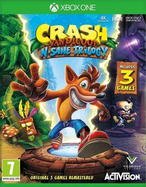 Immagine della copertina del gioco Crash Bandicoot N. Sane Trilogy per Xbox One