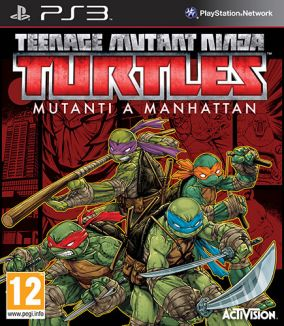 Copertina del gioco Teenage Mutant Ninja Turtles: Mutanti a Manhattan per PlayStation 3