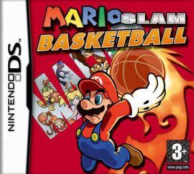 Immagine della copertina del gioco Mario Slam Basketball per Nintendo DS