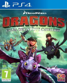 Copertina del gioco DreamWorks Dragons: L'alba dei nuovi cavalieri per PlayStation 4