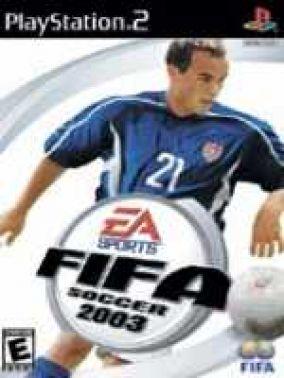 Copertina del gioco Fifa 2003 per PlayStation 2