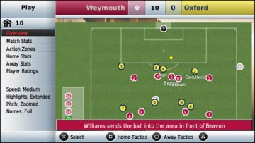 Immagine -4 del gioco Football Manager Handheld 2009 per PlayStation PSP