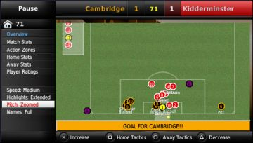 Immagine -3 del gioco Football Manager Handheld 2009 per PlayStation PSP