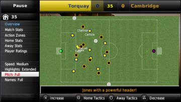 Immagine -2 del gioco Football Manager Handheld 2009 per PlayStation PSP