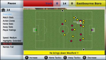 Immagine -1 del gioco Football Manager Handheld 2009 per PlayStation PSP