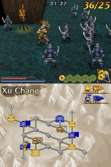 Immagine -2 del gioco Dynasty Warriors DS: Fighter's Battle per Nintendo DS